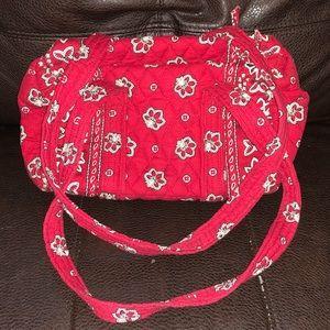 Vera Bradley red Paisley purse/shoulder bag, EUC